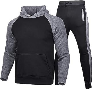 Spring Men's Jogging Tracksuits 2 Piece Set Casual Activewear Long Sleeve Pullover Hoodies Sweatshirt+Long Sweatpants
