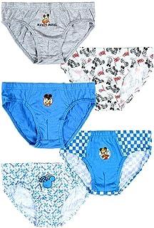 Calzoncillos Slip Niño Mickey Mouse Disney | 100% Algodón Suave | Paquete de 5 | 2-3 - 4-6 Años