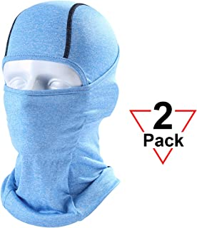 AXBXCX 2 Pack or 1 Pack Balaclava Full Face Mask Windproof Neck Cover Hood for Outdoor Sport