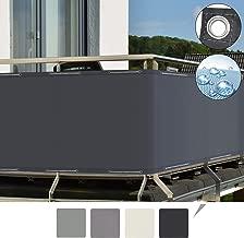Sol Royal SolVision Balkon Sichtschutz PB2 PES blickdichte Balkonumspannung 90x500 cm - Anthrazit - mit Ösen und Kordel - in div. Größen & Farben