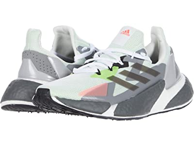 adidas Kids x9000L4 Boost (Big Kid) (Footwear White/Footwear White/Signal Pink) Kids Shoes