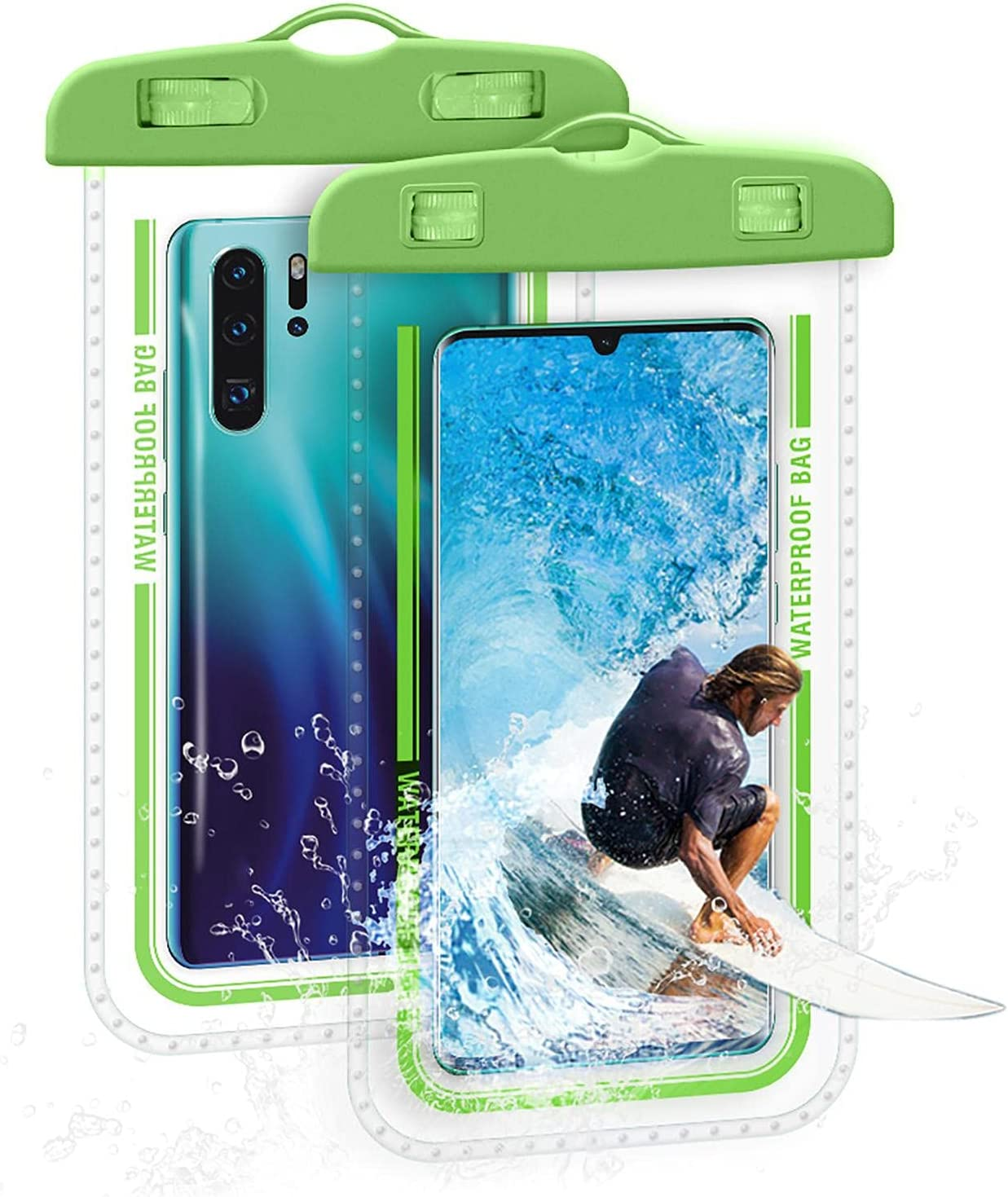 Mona43Henry Universal Waterproof Phone Bag, 7 Inches Waterproof Phone Pouch, Full-Screen Transparent Touch Sensitive Cellphone Dry Bag, Super Tightness Underwater Case Greater