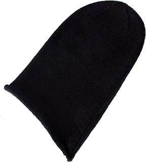 Love Cashmere Women's 100% Cashmere Beanie Hat - Black - Hand Made in Scotland RRP $120