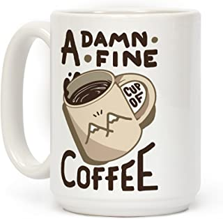 LookHUMAN Twin Peaks Coffee White 15 Ounce Ceramic Coffee Mug