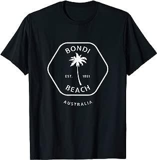 Retro Cool Bondi Beach Australia Palm Tree Novelty Art T-Shirt