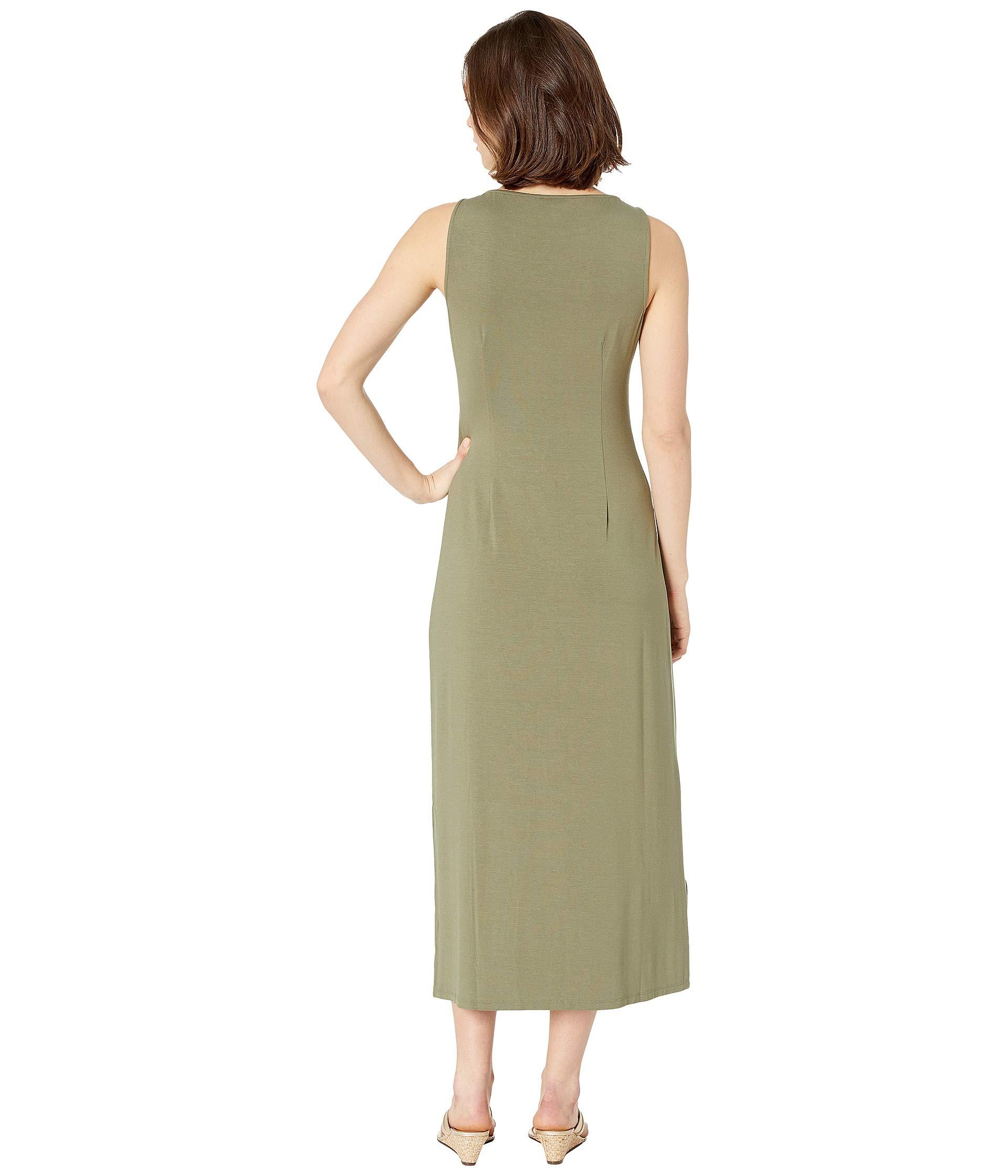 Bahama Sleeveless Tommy Dress Midi Leaf Tea Tambour 0q4w41A6