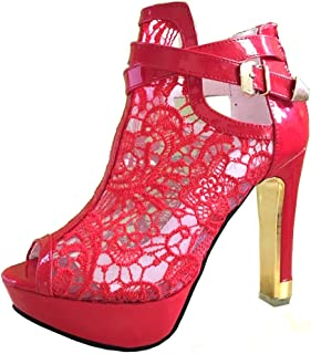 Best red lace heels Reviews