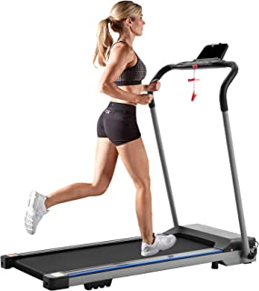 Julyfox 1200W Electric Folding Running Machine, Home Space Saving Slim Quiet Running Treadmill Motorized Electric Exercise Jogging Walking Machine with Pad Phone Holder Safety Key