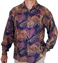 Surprise Men's Printed 100% Silk Shirt # 113