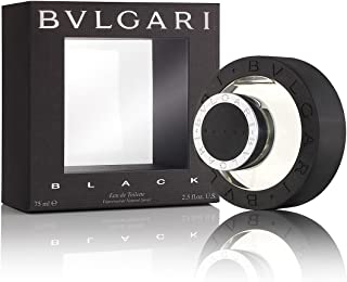 Bvlgari Black for Unisex | Eau de Toilette | Created in 1998 by Annick Menardo | Green, Woody, Earthy Fragrance with a Smokey Finish | 75 mL / 2.5 oz
