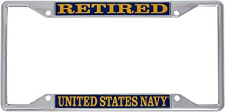 Desert Cactus US Navy Retired License Plate Frame for Front Back of Car Officially Licensed United States