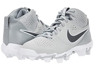 Nike Kids Alpha Huarache 3 Keystone BG Baseball (Toddler/Little Kid/Big Kid) (Light Smoke Grey/Iron Grey/Smoke Grey/White) Kid