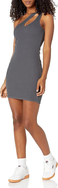 Monrow Women's Financial sales sale Hd0417-cut San Antonio Mall Out Shoulder One Dress