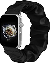 Sponsored Ad - Amzpas Scrunchie Elastic Bands Compatible for Apple Watch Band 38mm 42mm Women Girl Cloth Rubber Band Brace...
