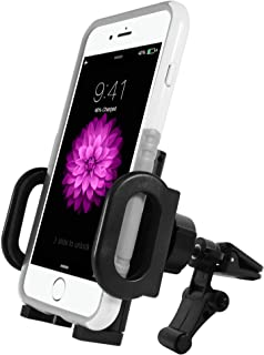 Macally Universal Air Vent Car Mount Phone Holder for iPhone Xs Xs Max Xr X 8 8 Plus 7 7+ 7s 6s Plus 6s 6 SE Samsung Galaxy S9 S9+ Note 9 S8 Edge S7 S6 Note 5 Pixel Moto, Cell Phones GPS (MVENTHOLDER)