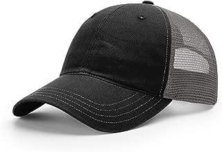 Richardson Washed Cap – Cotton – Snapback – 111 (BLACK/CHARCOAL)