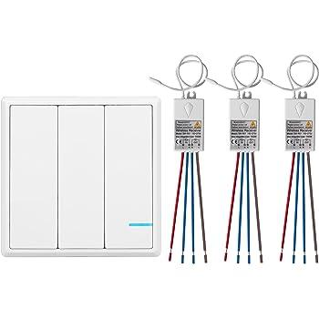 3 Wege Lichtschalter Funkschalter Set Funk Schalter Wasserdicht Funk Wandschalter Aussen 600m Drinnen 40m Ferngesteuert Drahtloser Kinetischev Energie Schalter Mit Empfanger Amazon De Beleuchtung