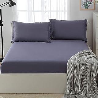 Premium Quality Plain Fitted Sheet, Soft & Cosy Fleece Bed Linen, Kingsize Bedsheet,45X70cm one pcs