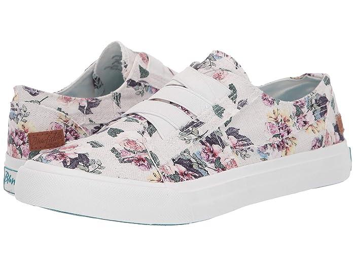 Blowfish  Marley (Off-White Bella Print Canvas) Womens Flat Shoes