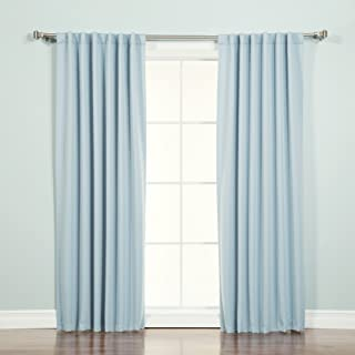 Best Home Fashion Thermal Insulated Blackout Curtains - Back Tab/Rod Pocket - Sky Blue - 52
