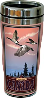 Multicolored 16-Ounce Tree-Free Greetings sg23048 Scenic British Columbia Canada Geese by Joanne Kollman Stainless Steel Sip N Go Travel Tumbler