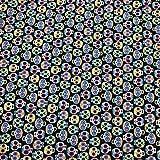 Kt KILOtela Tela por Metros de Patchwork - Estampación Digital - 100% algodón - 140 cm Ancho - Largo a elección de 50 en 50 cm | Calaveras Divertidas - Negro, Multicolor