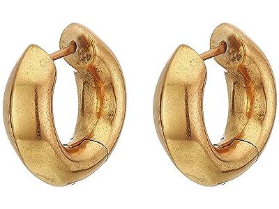 Kendra Scott Mikki Huggie Earrings (Vintage Gold Metal) Earring