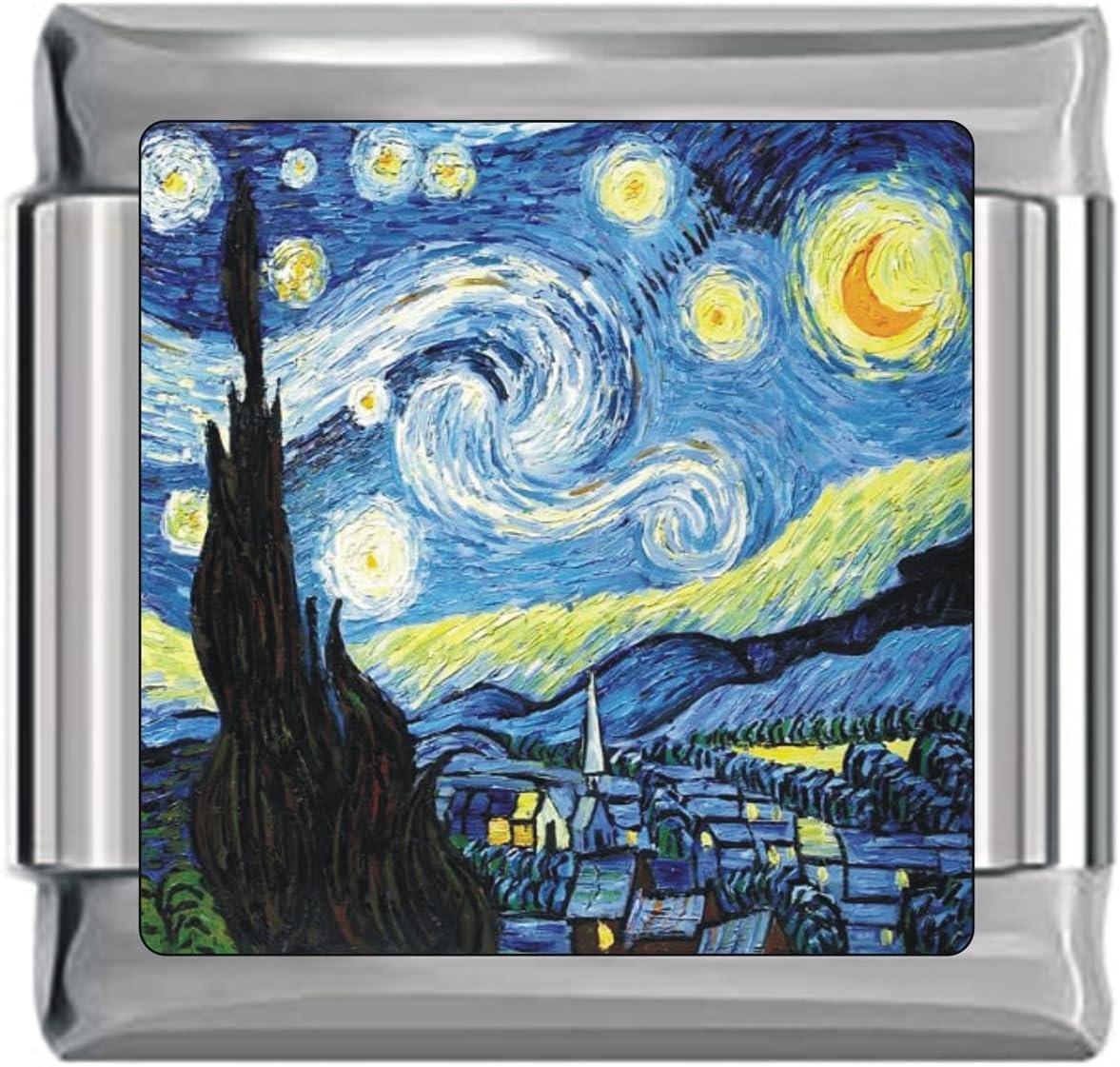 Starry Night Italian Charm