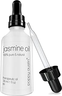 Pure Jasmine Oil - Vegan Certified, Cruelty-Free, Organic, Natural, Cold Pressed & Eco Friendly - Hand Made, Undiluted & T...