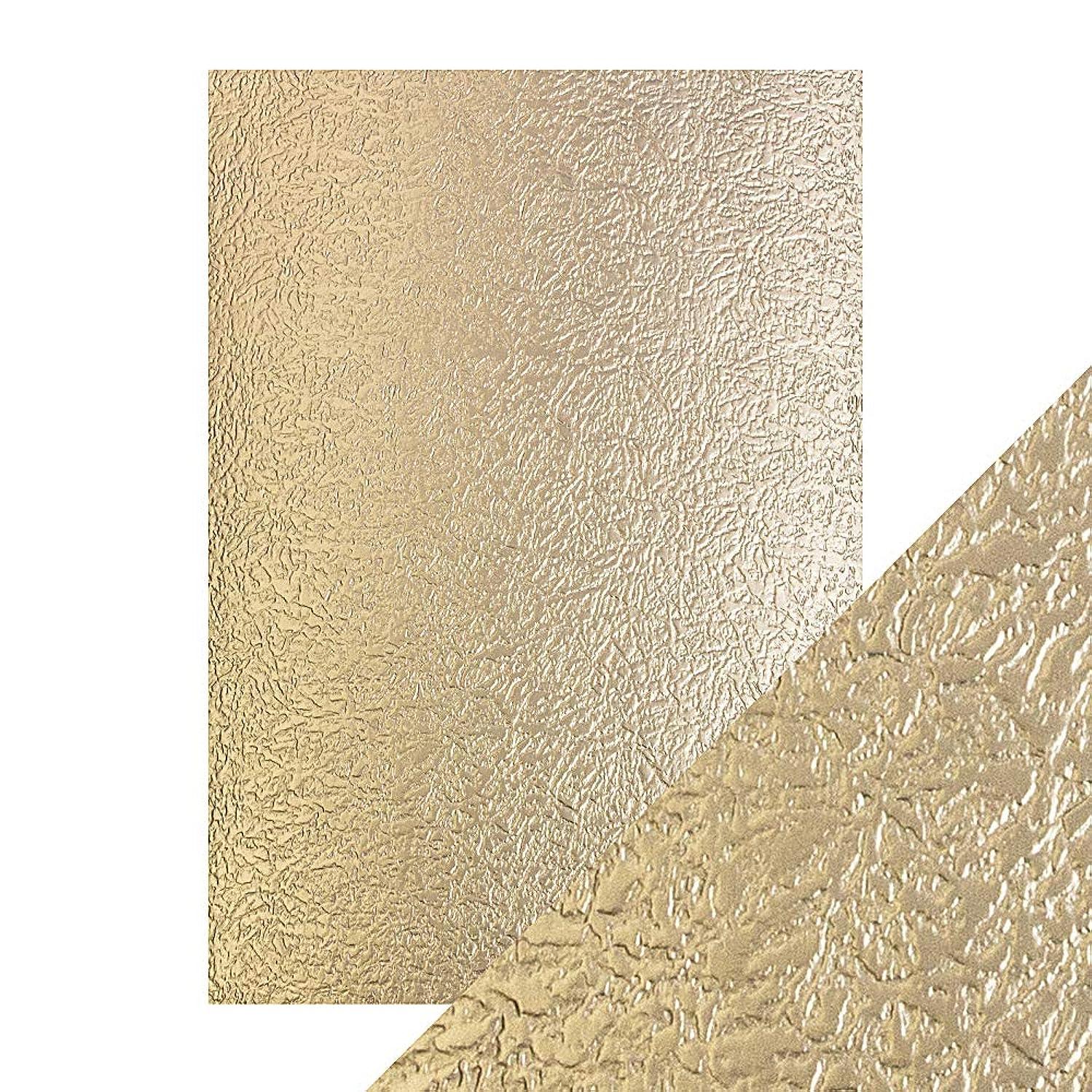 Tonic Studios Craft Perfect A4 Luxury Embossed Card, Cardstock, Golden Glacier,
