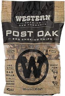 Western Premium BBQ Products Post Oak BBQ Smoking Chips, 180 cu in