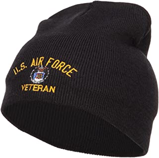 e4Hats.com US Air Force Veteran Military Embroidered Short Beanie