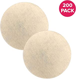 Think Crucial Unbleached Paper Coffee Filter compatible with Aerobie Aeropress Coffee & Espresso Makers (200 Pack)