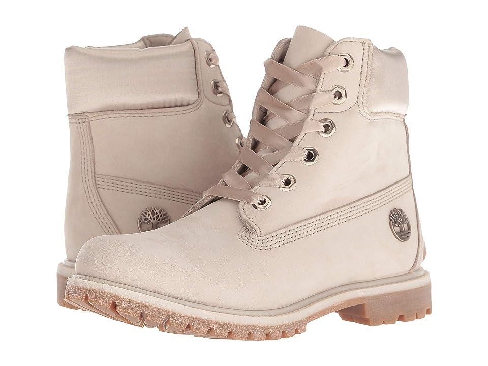 Timberland 6 Premium Waterproof Boot (Light Taupe Nubuck) Women's Lace-up Boots