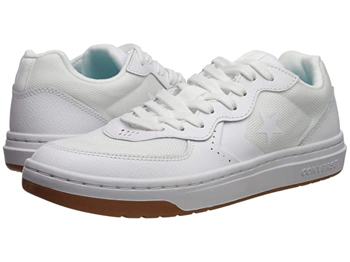 Converse   Rival Leather - Ox (White/White/Gum) Mens Shoes
