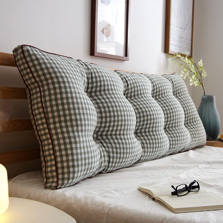 WOFULL Coussins de chevet en coton lavé Double oreiller long Coussin de chevet Coussin de taille 120  20  50cm (6 boucles) (Couleur   C3)
