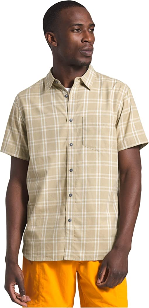 Twill Beige Check Plaid