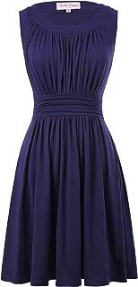 Belle Poque A-Line Women's 1950s Vintage Dress Sleeveless