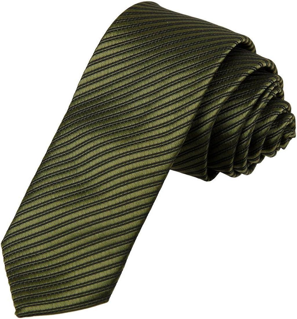 Mens Tie Stripes Soild Skinny Tie for Men Classic Formal Tie Dan Smith