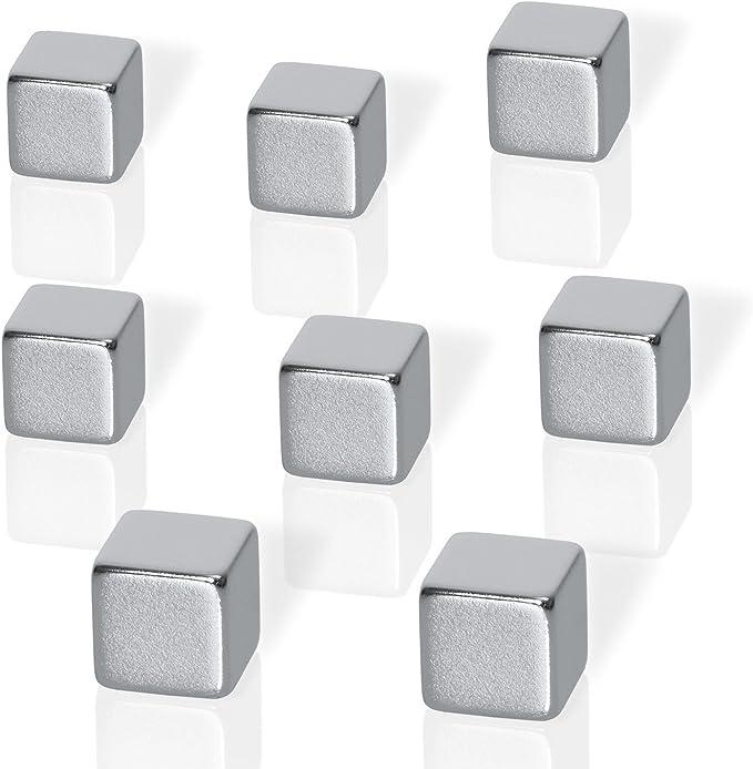 747 opinioni per Be!Board B3101 Magneti neodimio per lavagne magnetiche di vetro, a forma di cubo