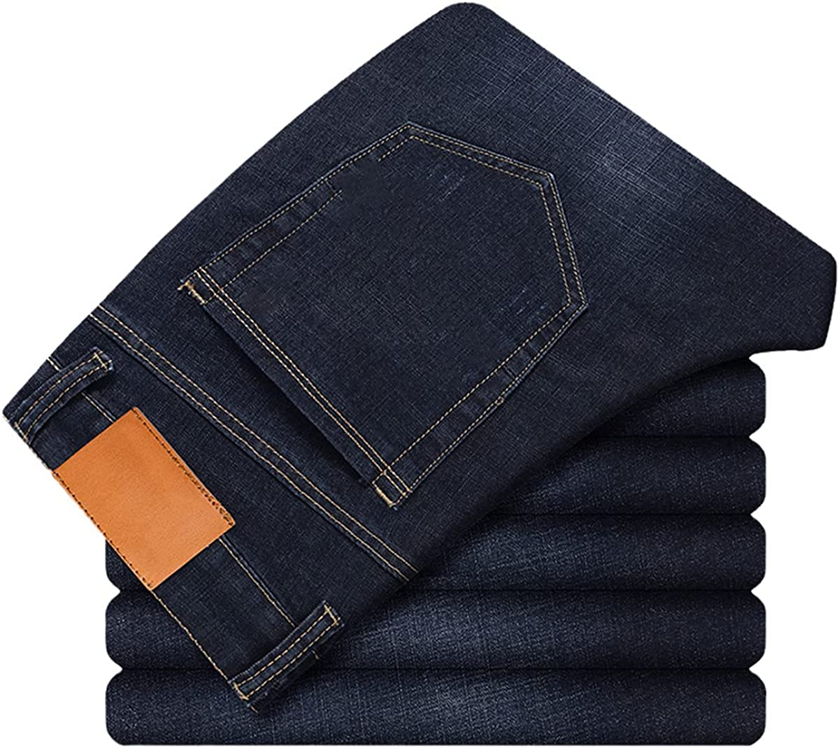Men's Thin Jeans Summer Business Casual Slim Stretch Classic Trousers