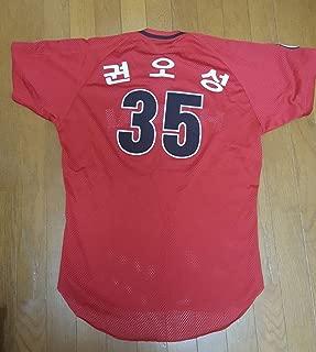 希少韓国プロ野球 ヘテ・タイガース #35 クォン・オソン 実ビジター メッシュユニフォーム