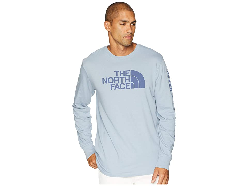 The North Face Long Sleeve Well-Loved 1/2 Dome Tee (Gull Blue) Men