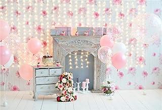 YongFoto 1,5x1m Vinilo Telon de Fondo Cumpleaños 1 año Hermosas Decoraciones Fondos Fotograficos Photo Booth Infantil Party Banner Niña Niño Photo Studio Props