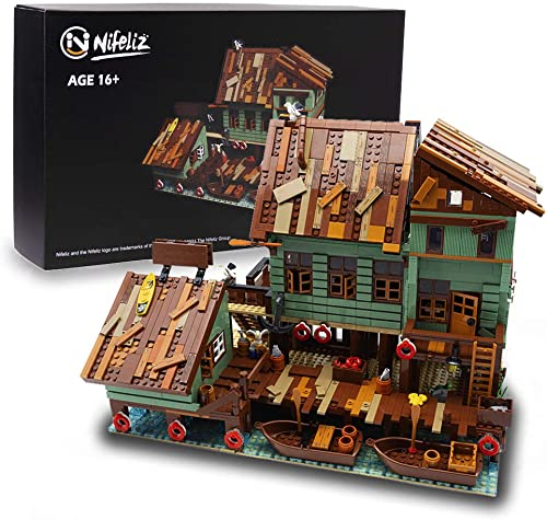 high quality NifelizFishing Village Captain's Wharf MOC Building Blocks kit - Construction Set to new arrival Build, Model Set and Assembly Toy for Teens and wholesale Adult,New 2021 (2745Pcs) sale
