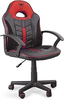 Home Heavenly®- Silla Gaming Win, Silla giratoria para niños, niñas, sillón Gamer con Ruedas ergonómico diseño Moderno, para Estudio, habitación Juvenil Escritorio, en tamaño pequeño (Rojo)