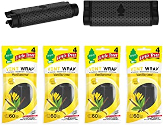 Car Air Freshener | Vent Wrap Provides Long-Lasting Scent, Invisibly Fresh! | Vanillaroma, 4 Count (Pack of 4)