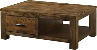 Coaster Home Furnishings Leaton 1-Drawer Rustic Golden Brown Coffee Table