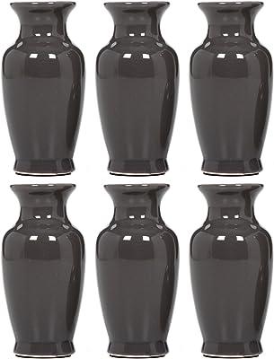 Red Benzara BM180982 Finely Shaped Modern Ceramic Vase