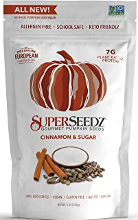 Sponsored Ad - Superseedz Gourmet Roasted Pumpkin Seeds | Cinnamon & Sugar | Vegan | Paleo | Healthy Snacks | 8g Plant Bas...